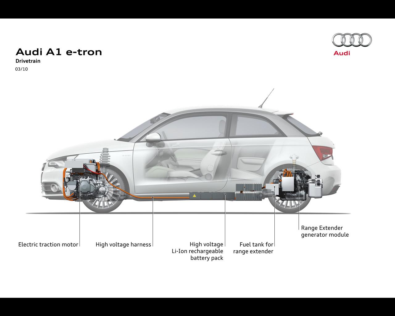 Audi A1 E Tron Electric Concept Car With Range Extender