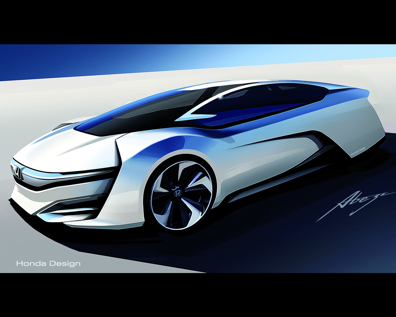 Honda Fcv Hydrogen Fuel Cell Vehicle Design Study For 2015 Hybrid Electric Car Diagram