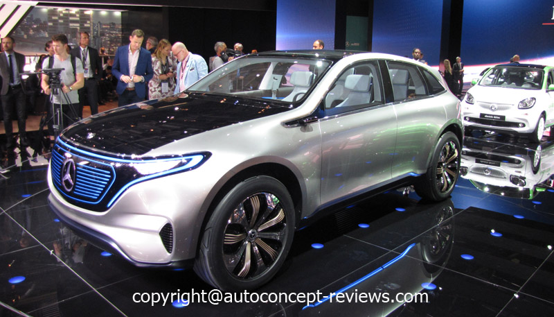 Mercedes benz eq pure electric suv coup concept 2016 for Mercedes benz car names