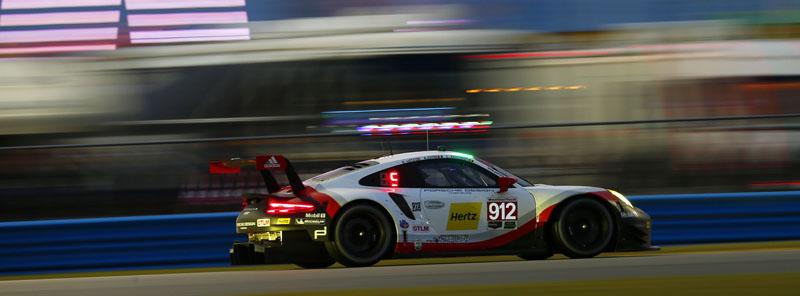 Porsche 911 Rsr And 911 Gt3 R At 2017 Imsa Daytona 24 Hours