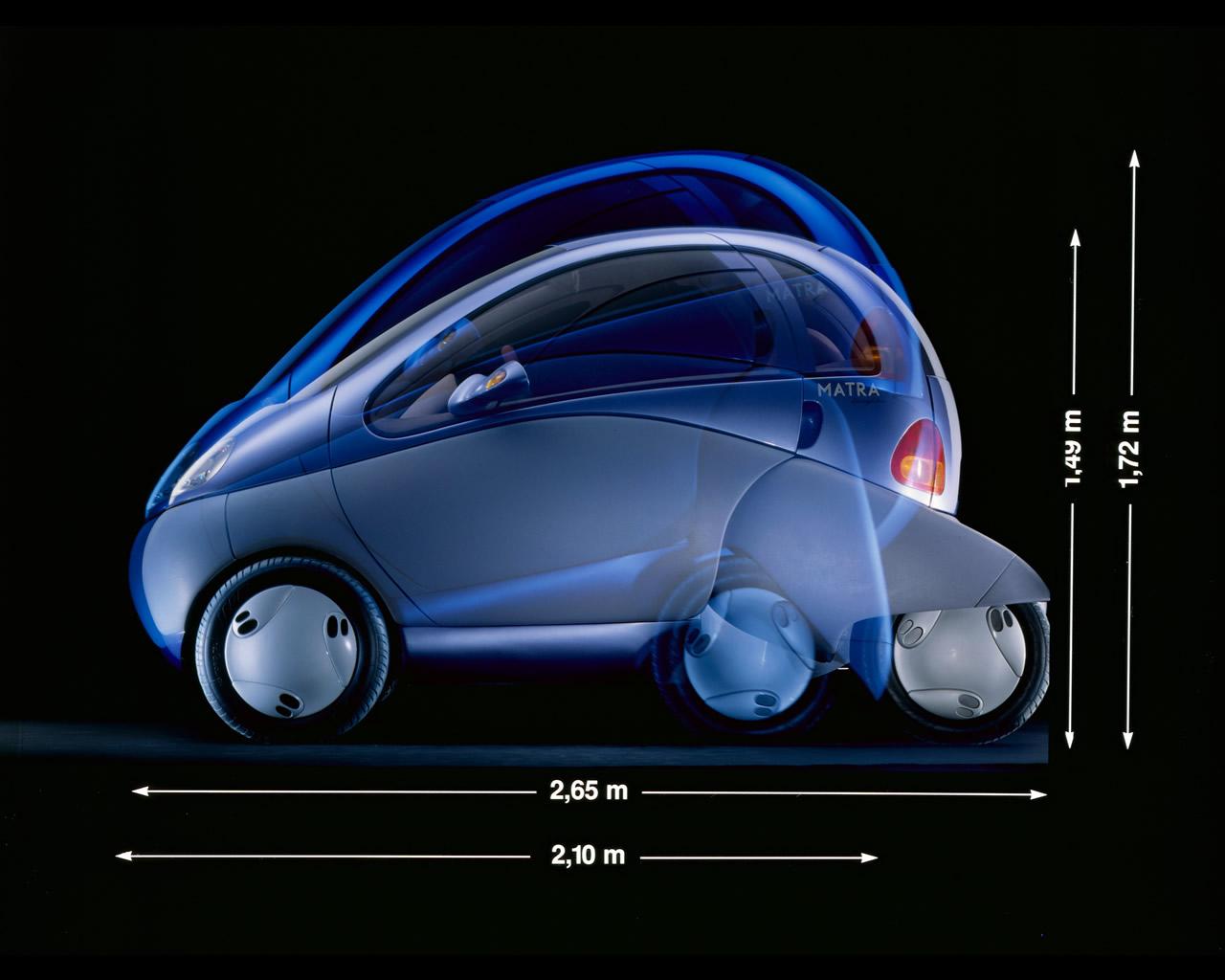 renault zoom electric city car concept 1992