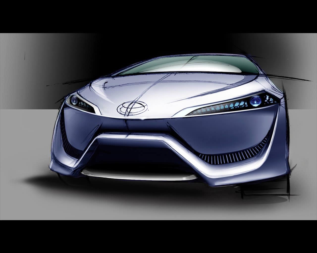 toyota fcv r hydrogen fuel cell electric sedan concept for 2015. Black Bedroom Furniture Sets. Home Design Ideas