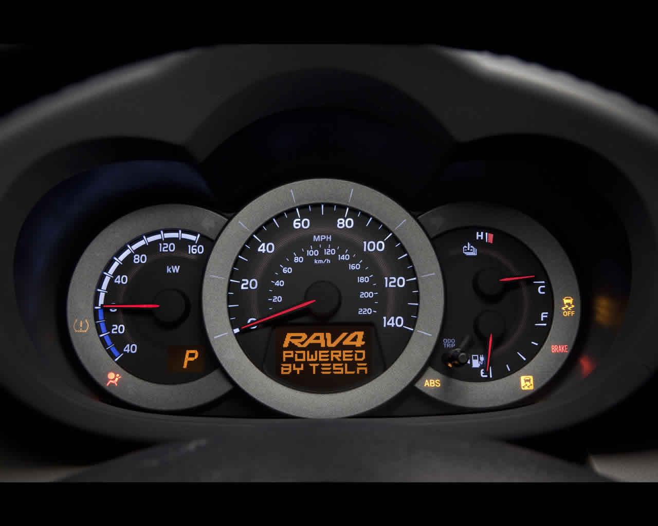 toyota rav 4 electric car 2011 and 1996 green rav4