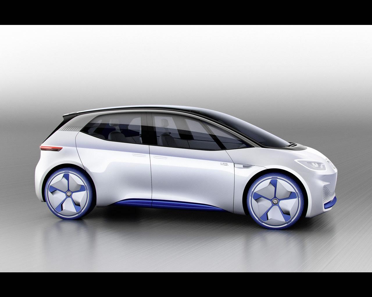 volkswagen i d pure electric concept 2016. Black Bedroom Furniture Sets. Home Design Ideas