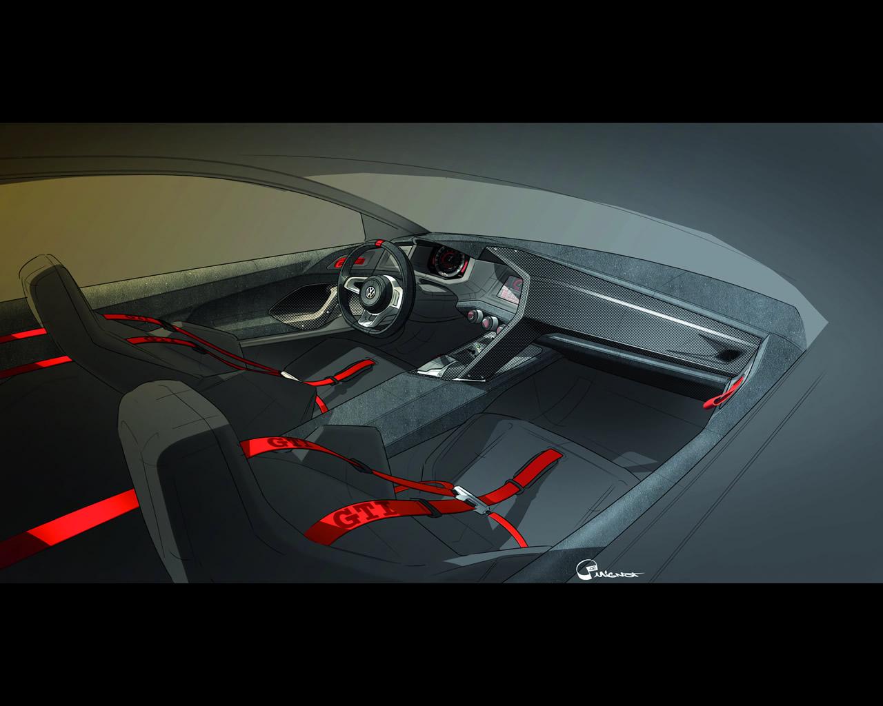 volkswagen 503 hp twin turbo v6 4wd design vision gti